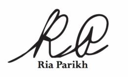 Ria Parikh Logo